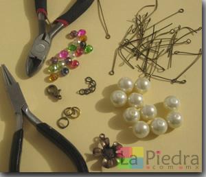 Pulseras con Perlas materiales