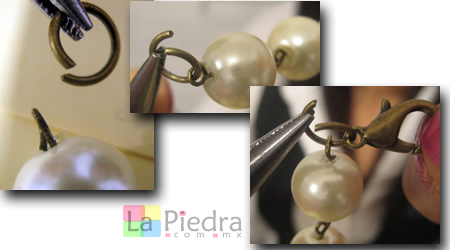 Pulseras con Perlas paso 5