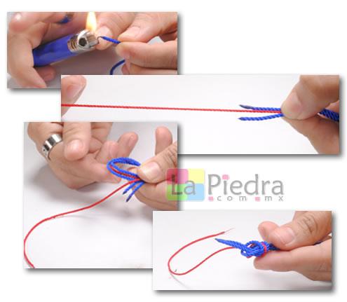 Como hacer pulseras de shamballa en espiral con flor coral y Dije Bola de fuego_ paso_1