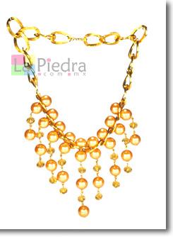 Collares de perlas con cadena