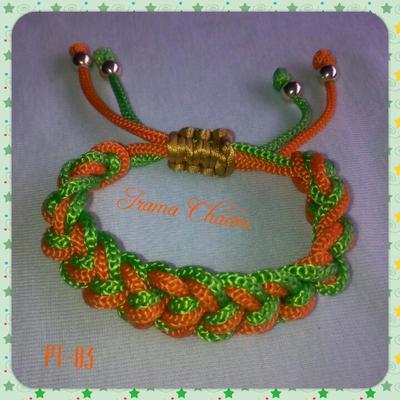 pulsera tejida doble cordon