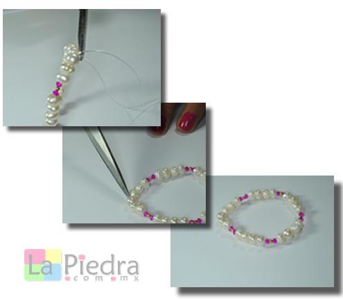 Pulseras de Perlas paso 3