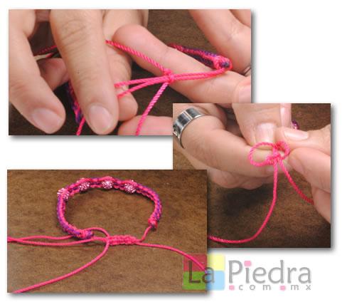 Como hacer pulseras de Shambala con dije bola de fuego _paso_13