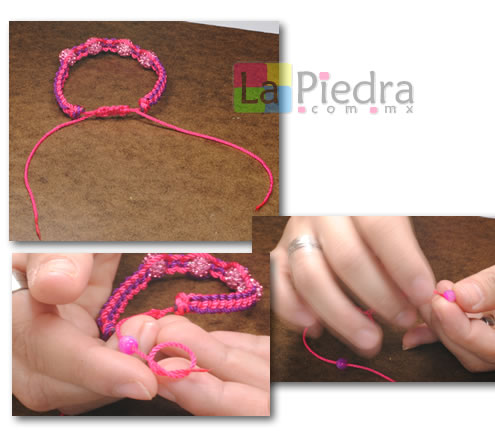 Como hacer pulseras de Shambala con dije bola de fuego _paso_15
