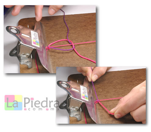 Como hacer pulseras de Shambala con dije bola de fuego _paso_5