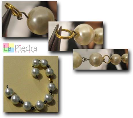Pulseras con Perlas paso 4